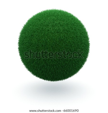3d render of a green earth how it should be - stock photo