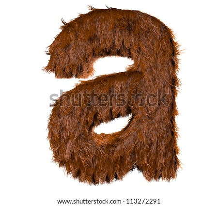 3d render of a hairy a