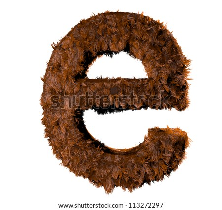 3d render of a hairy e