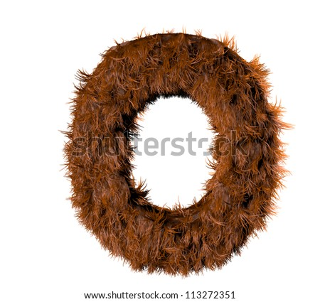 3d render of a hairy o