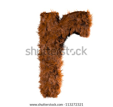 3d render of a hairy r