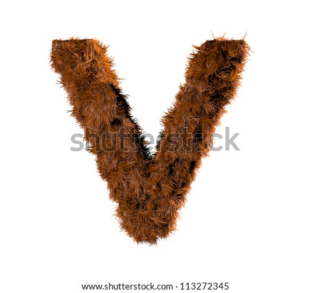 3d render of a hairy v - stock photo