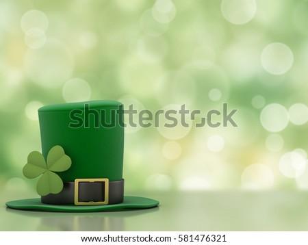 3d render of a leprechaun hat Foto stock ©