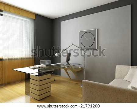 3d render of a modern interior.exclusive design - stock photo