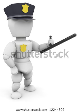 3D render of a policeman