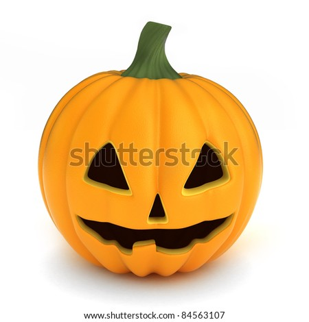 3D render of a pumpkin for hallowee