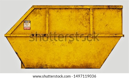 3D Render of a Rusty Trash Dumpster