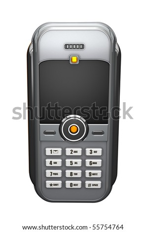 3D Render of a simple cell phone