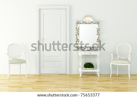 3d render of a vintage interior design - stock photo