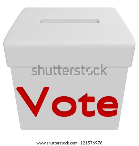 3d Render of a Voting Box