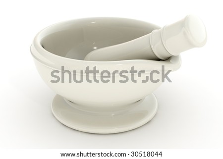 3d render of a white mortar