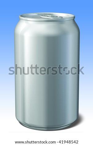 3d render of aluminum can