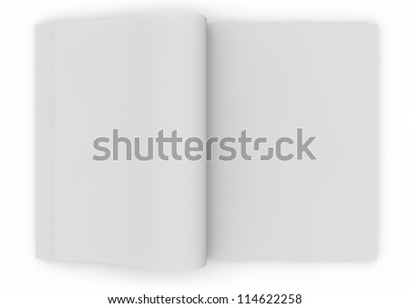 3d render of an empty book