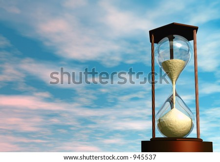 3D render of an hourglass