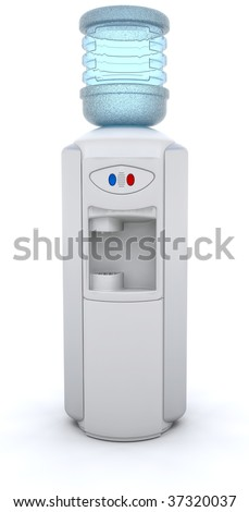 3D render of an office water cooler