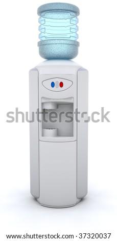 3D render of an office water cooler