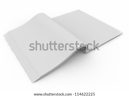 3d render of an open book