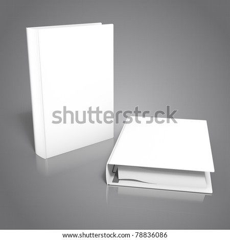 3d render of angle-d binder, isolated on black background