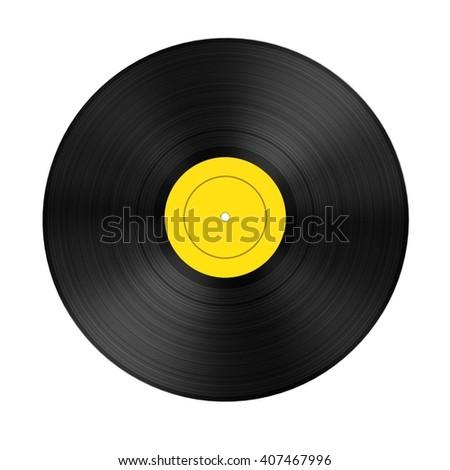 3d render of audio record (vinyl)