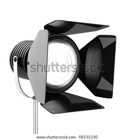 3d render of black spotlights on a white background
