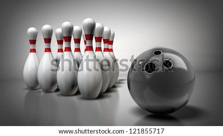 3d render of bowling. High resolution