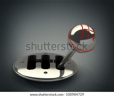 3d render of car shift gear High resolution.
