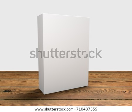3D render of cereal like box on a wooden surface #710437555