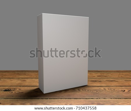 3D render of cereal like box on a wooden surface #710437558