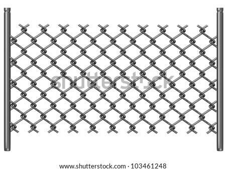 3d render of chain fence