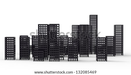 3d render of Cityscape illustration