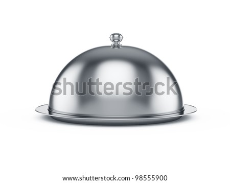 3d render of closed cloche, isolated on white background ストックフォト ©