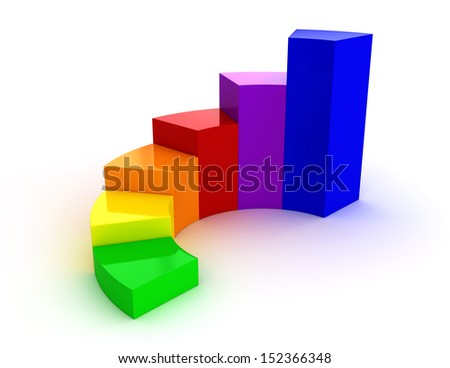 3d render of color chart