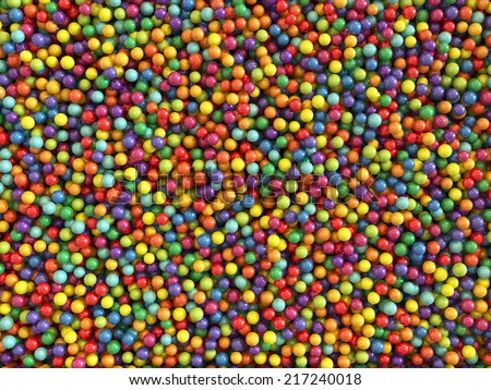3d render of colorful balls set background