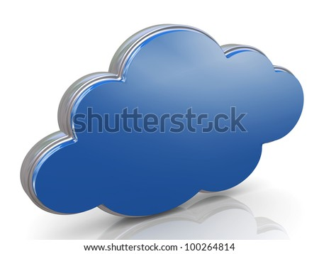 3d render of concept of cloud computing.