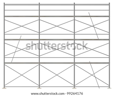 3d render of construction scaffolding