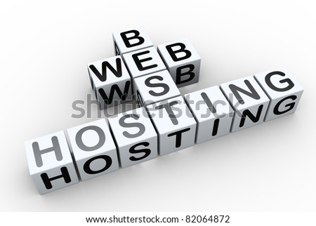 3d render of crossword text 'best web hosting'
