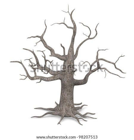 3d render of dead tree