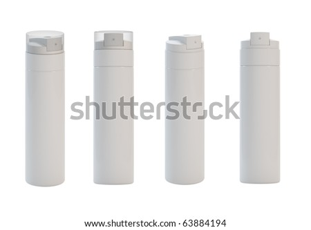 3d render of different views isolated sprays