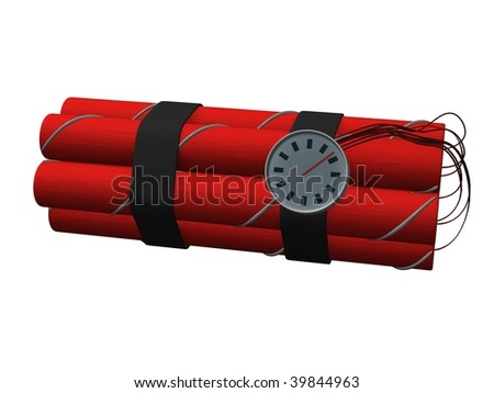 3d render of dynamite bomb - stock photo