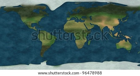 3d render of earth map