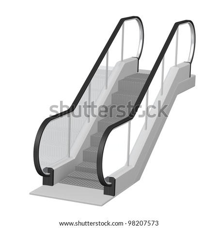 3d render of escalator stairs