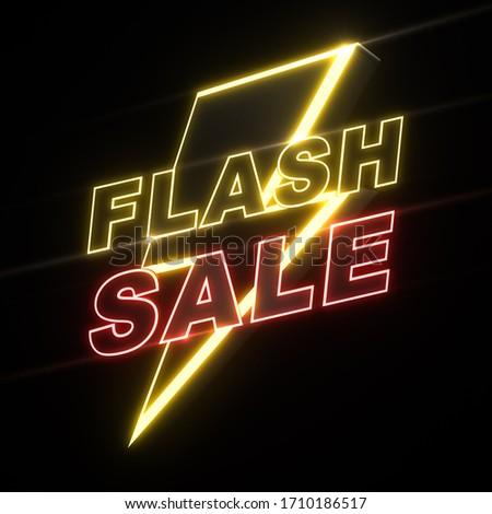 3D Render of flash sale banner, Advertising promotion, 3D illustration. Foto stock ©