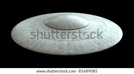 3d render of flying saucers
