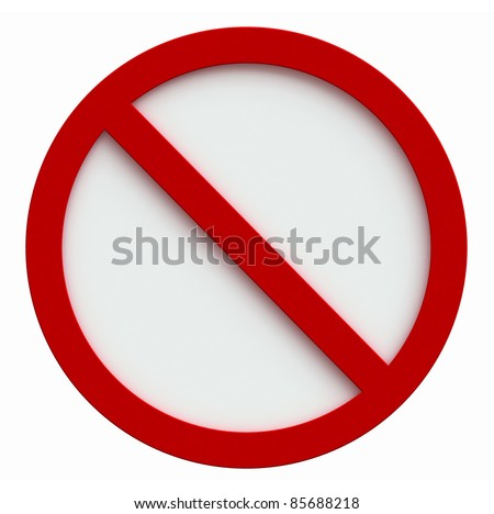 3d render of forbidden sign isolated on white