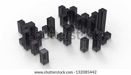 3d render of Ghost City
