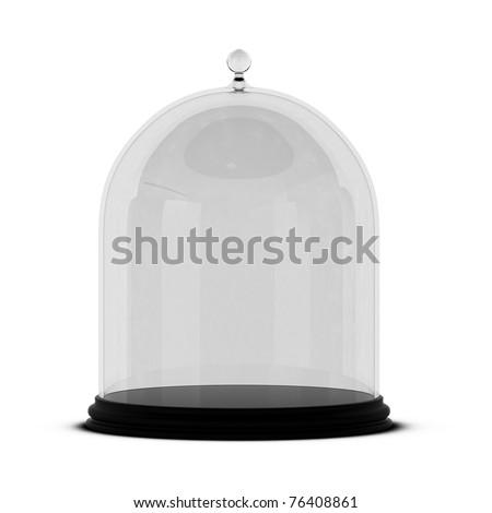 3d render of glass bell