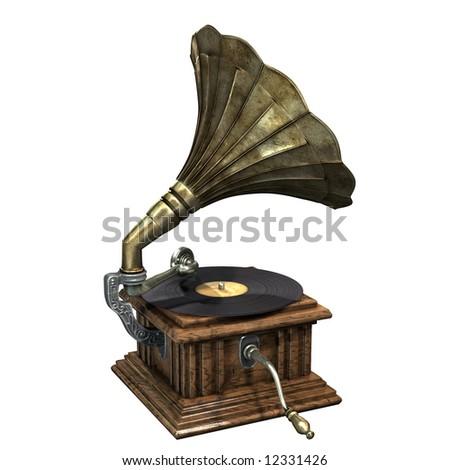 3d render of gramophone #12331426