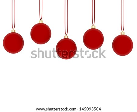 3d Render of Hanging Red Ornaments #145093504