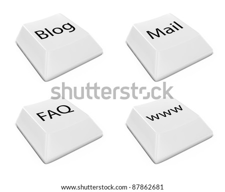 3d render of keyboard buttons set