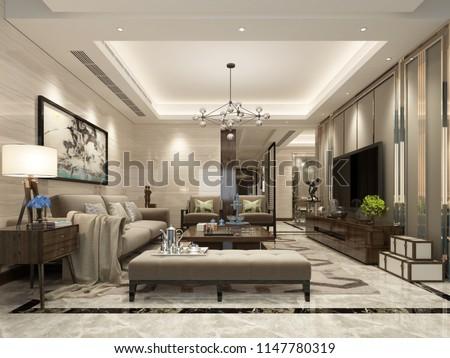 3d render of living room #1147780319